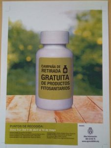 Campaña retirada gratuita de productos fitosanitarios